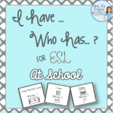 ESL School supplies speaking activity I HAVE WHO HAS
