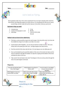 ESL Science - Floating ball Air pressure Worksheet. by ESL Phonics ...