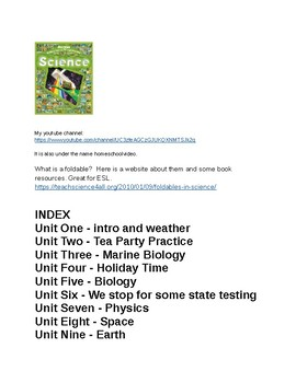 ESL Science Lessons for a whole, fun, school year