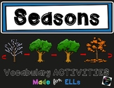 ESL Seasons Vocabulary Activities