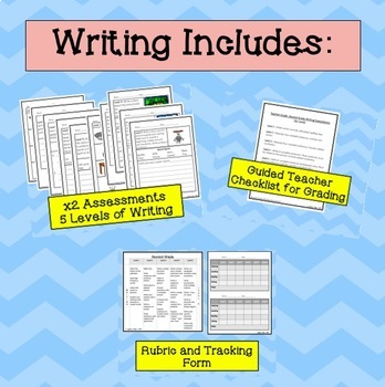ESL Second Grade Progress Monitoring BUNDLE (Reading Writing Listening Speaking)