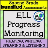 ESL Second Grade Progress Monitoring, BUNDLE (Writing, Lis