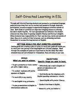 ESL Self Directed Learning For Adult ELLs