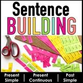 Sentence Building Activity  Present Simple, Present Contin