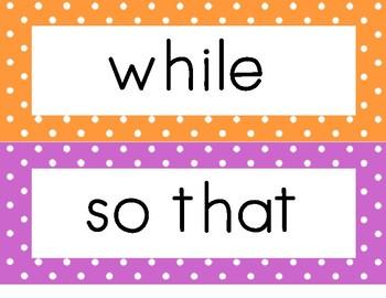 ESL Sentence Expander Cards - Conjunction Cards