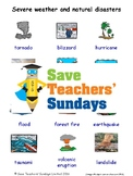 ESL Severe Weather & Natural Disasters Worksheets, Games & More (with audio)