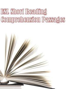 ESL Short Reading Comprehension Passages