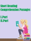 ESL Short Reading Comprehension Passages (Part 1, 2)