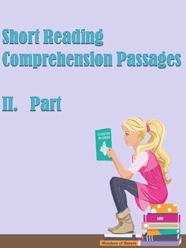 ESL Short Reading Comprehension Passages (Part 2)