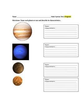 ESL Solar System Assessment