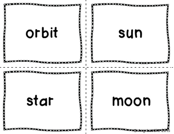 ESL Space Vocabulary Games & Activities