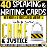 Crime and Justice | ESL/ELL/ELA Speaking&Writing Activitie