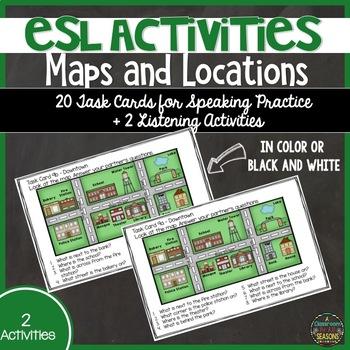 ESL Speaking Activities: Maps and Buildings