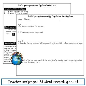 ESL Speaking Assessments 2nd and 3rd Grade