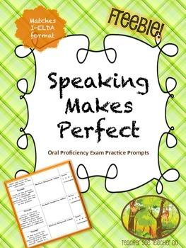 ESL Speaking Exam Practice Prompts