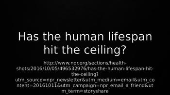 ESL Speaking Lesson Plan PowerPoint: Has the Human Lifespa