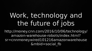ESL Speaking Lesson Plan PowerPoint: Work, Technology and the Future of Jobs