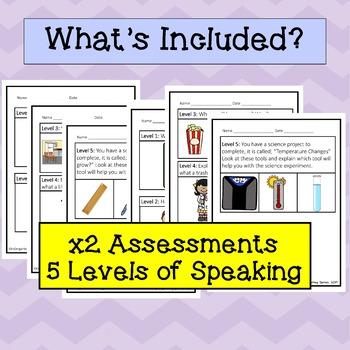 ESL Speaking Progress Monitoring, First Grade