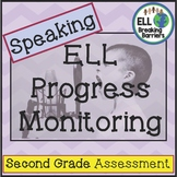 ESL Speaking Progress Monitoring, Second Grade #ELLSpringsale