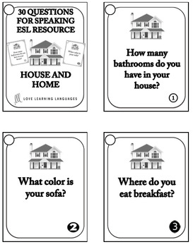 30 ESL conversation starters and speaking prompts - House and Home