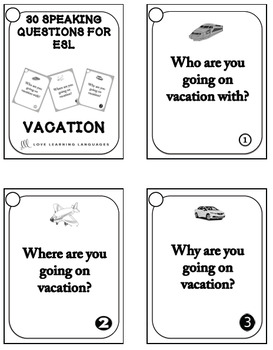 30 ESL conversation starters and speaking prompts - Vacation