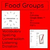 Adult ESL Spelling List   Food Groups   Bundled Digital and PDF