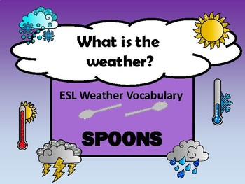 ESL Spoons Weather Vocabulary Card Game