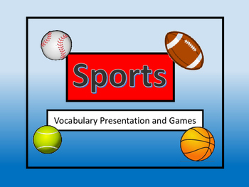 ESL Sports Vocabulary Presentation and Games