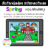 ESL Spring Vocabulary Games. Distance Learning. Boom Cards.