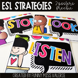 ESL Strategies - 3 Posters designed for Cycle One ESL Stud