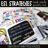 ESL Strategies Poster Set + Task Cards