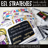 ESL Strategies Poster Set + Task Cards