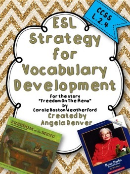ESL Strategy for Vocabulary Development for Freedom on the Menu