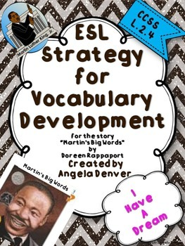 ESL Strategy for Vocabulary Development for Martin's Big Words