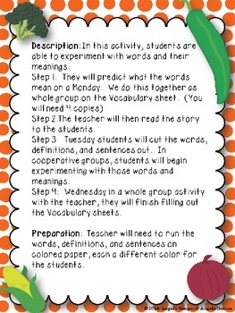 ESL Strategy for Vocabulary Development for Stone Soup by Jon J. Muth