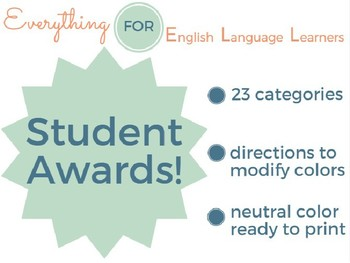 ESL Student & End of Year Awards