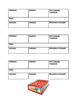 ESL Student Personal Dictionary
