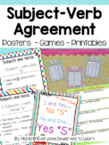 Subject Verb Agreement Posters, Scoot, and Printables
