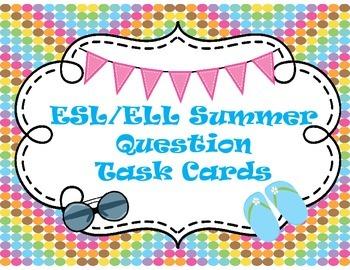 ESL Summer Question Task Cards