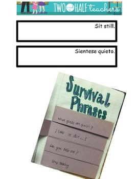 ESL Survival Phrases for Interactive Notebook