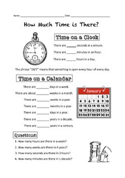 ESL TIme and Routine Unit