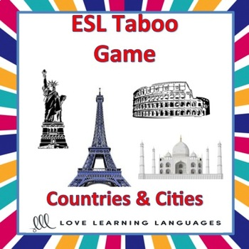 ESL - ELL Taboo Game, Countries and Cities