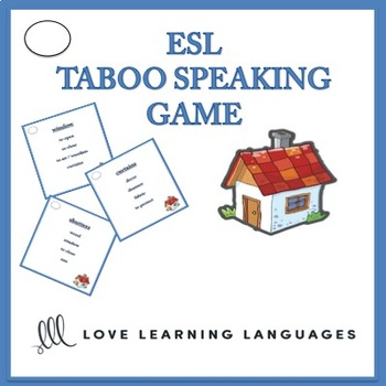 ESL Taboo Speaking Game, House and Home Vocabulary