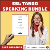 Taboo speaking games growing bundle - English vocabulary b