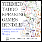 Taboo speaking games growing bundle - English vocabulary b