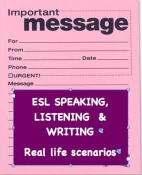 ESL Take a Message Conversations