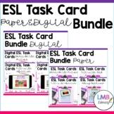 ESL Task Card Bundle, Paper AND Digital Versions