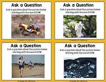 ESL Task Cards-Forming Questions Using Real Images