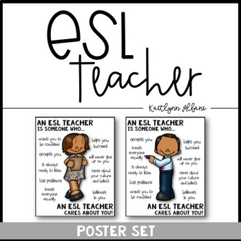 ESL Teacher Poster [Someone Who]