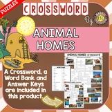 Animal Homes ESL/ELL Activity Crossword Puzzle